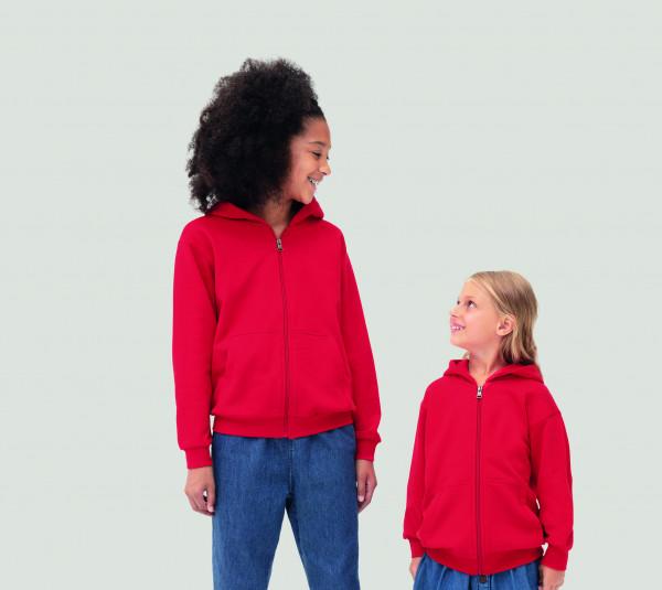 HAKRO Kinder Kapuzen-Sweatjacke