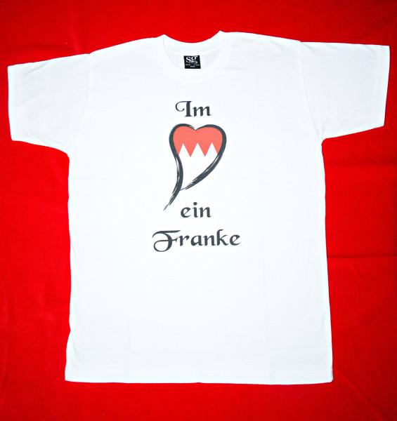"""T-Shirt """"Im Herzen ein Franke"""" - M"""